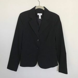 Business casual blazer with pinstripes